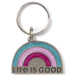 Life Is Good - Rainbow Keychain