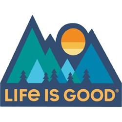 Life Is Good - Minimal Mountains Die Cut Die Cut Stickers