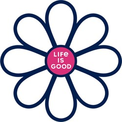Life Is Good - Simple Daisy Die Cut Die Cut Stickers