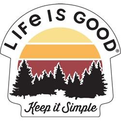 Life Is Good - Keep It Simple Small Die Cut Decal Die Cut Stickers