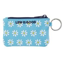 Life Is Good - Unisex Daisy Pattern Wayfarer Wallet