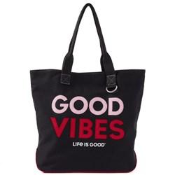 Life Is Good - Unisex Good Vibes Way More Wayfarer Tote