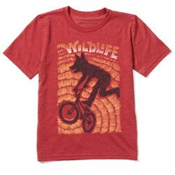 Life Is Good - Boys Wildlife Bike Ss Cool T-Shirt