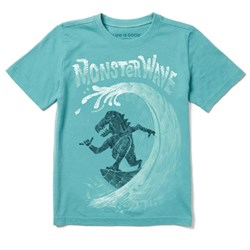 Life Is Good - Boys Monster Wave Ss T-Shirt