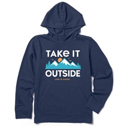 Life Is Good - Boys Outside Mountains Hooded Crusher T-Shirt