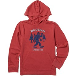 Life Is Good - Boys Wild Man Hooded Crusher T-Shirt