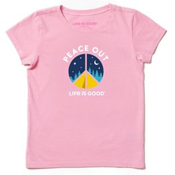 Life Is Good - Girls Peace Out Camp Ss T-Shirt