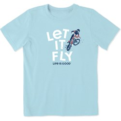 Life Is Good - Kids Let It Fly Dirt Bike Crusher T-Shirt