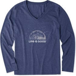 Life Is Good - Womens None Ls Cool V Neck T-Shirt