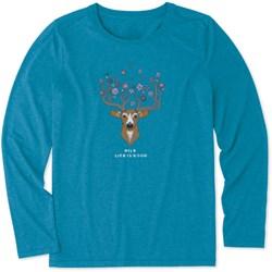 Life Is Good - Womens Pretty Dear Ls Cool T-Shirt