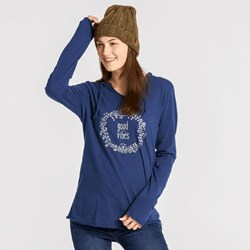 Life Is Good - Womens None Ls Hooded Smooth T-Shirt