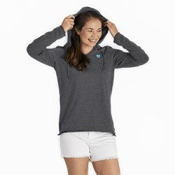 Life Is Good - Womens Peace Ls Hooded Smooth T-Shirt