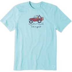 Life Is Good - Mens Off-Road Jake Vintage Crusher T-Shirt