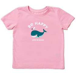 Life Is Good - Baby Be Happy Whale Ss Toddler T-Shirt