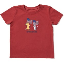 Life Is Good - Baby Dog Cat Flags Ss Toddler T-Shirt