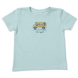 Life Is Good - Kids Friends School Bus Vintage Crusher T-Shirt