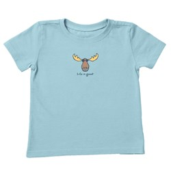 Life Is Good - Kids Lig Moose Vintage Crusher T-Shirt
