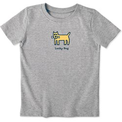 Life Is Good - Kids Lucky Dog Vintage Crusher T-Shirt