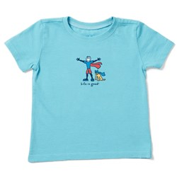 Life Is Good - Kids Superhero Jake And Rocket Vintage Crusher T-Shirt