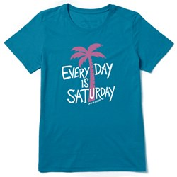 Life Is Good - Womens Every Day Is Saturday Ss Cool T-Shirt