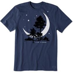 Life Is Good - Mens Big Crescent Crusher T-Shirt