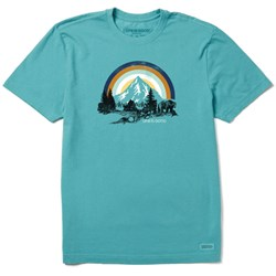 Life Is Good - Mens Retro Bear Landscape Crusher T-Shirt