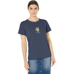 Life Is Good - Womens Rocket With Daisy Vintage Crusher T-Shirt