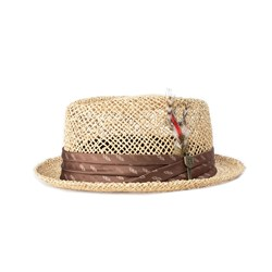 Brixton - Unisex Stout Straw Pork Pie Hat