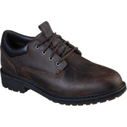 Skechers - Mens Low Profile Leather Lace Up Shoes
