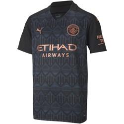 Puma - Kids Mcfc Away Replica Short Sleeve With Sponsor Logo T-Shirt