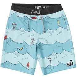 Billabong - Kids One Fish Two Fish Layback Boardshorts