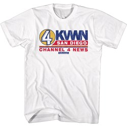 Anchorman - Mens Ch 4 News Logo T-Shirt