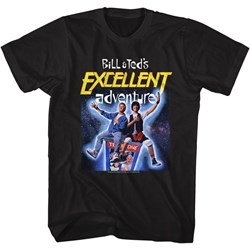 Bill And Ted - Mens B&T Space Poster T-Shirt