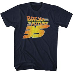 Back To The Future - Mens Bttf 35Th Distressed T-Shirt