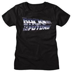 Back To The Future - Womens Chrome To The Future T-Shirt