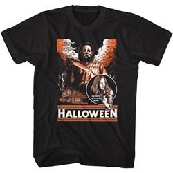 Halloween - Mens Sketchy & Orange T-Shirt