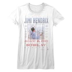 Jimi Hendrix - Womens Woodstock T-Shirt