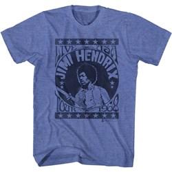Jimi Hendrix - Mens Live Usa Tour 68 T-Shirt