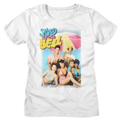 Saved By The Bell - Womens Faded Beachy T-Shirt