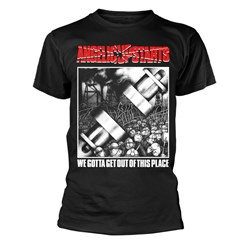 Angelic Upstarts - Mens Angelic Upstarts We Gotta Get Out Of This Place T-Shirt