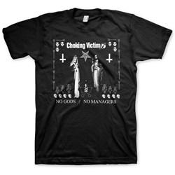 Choking Victim - Mens Choking Victim No Gods No Masters T-Shirt