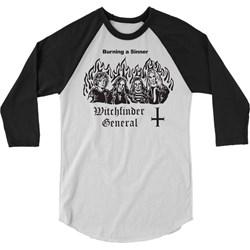 Witchfinder General - Mens Burn a Witch Raglan Shirt