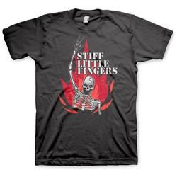 Stiff Little Fingers - Mens Skeleton Flame T-Shirt