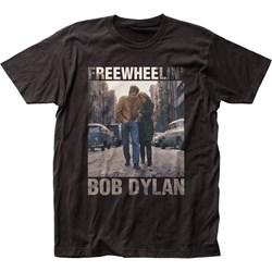 Bob Dylan - Unisex Freewheelin' Fitted Jersey T-Shirt