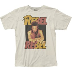 David Bowie - Unisex Rebel Rebel Fitted Jersey T-Shirt