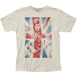 David Bowie - Unisex Union Jack Fitted Jersey T-Shirt