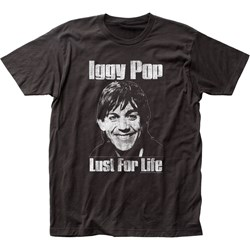 Iggy Pop - Lust For Life Mens T-Shirt In Coal