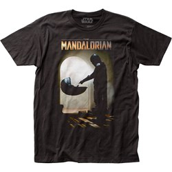 The Mandalorian - Unisex Mando Meets The Child Fitted Jersey T-Shirt