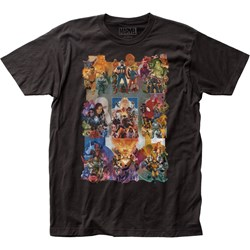 Marvel Universe - Unisex Marvel Comics Painted Collage Fitted Jersey T-Shirt