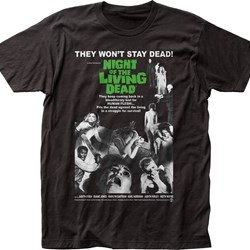 Night Of The Living Dead Poster Adult T-Shirt In Black